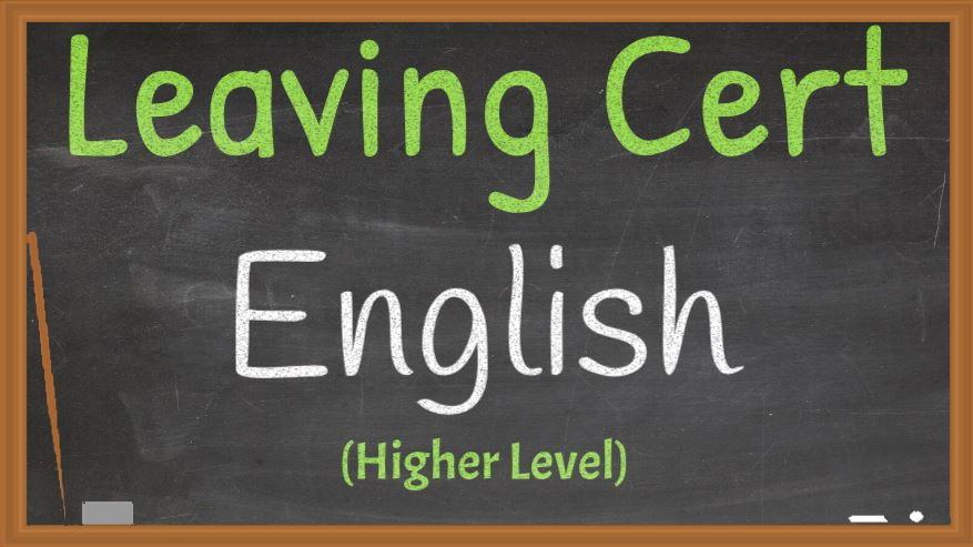 Leaving Cert English Higher Level Live Online Grinds